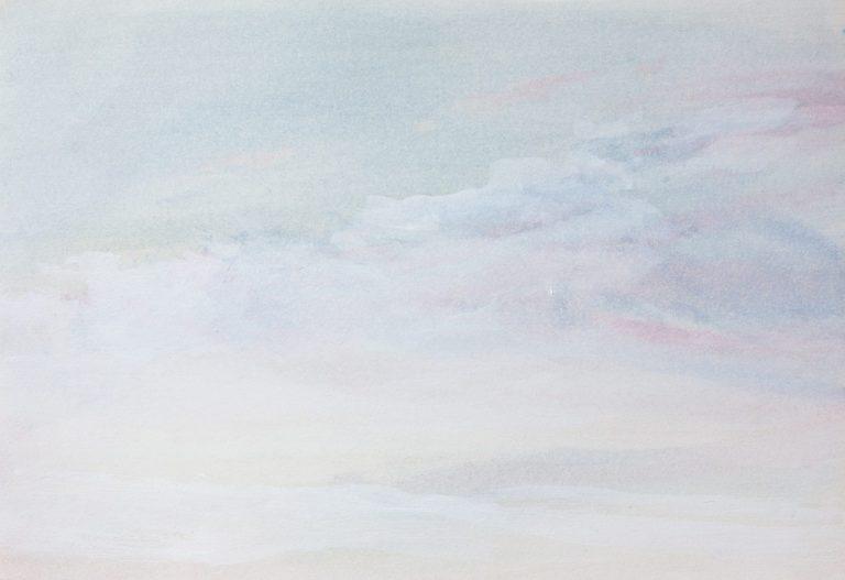Да можеш да летиш, 2020, маслени бои върху хартия, 19 х 28 см.