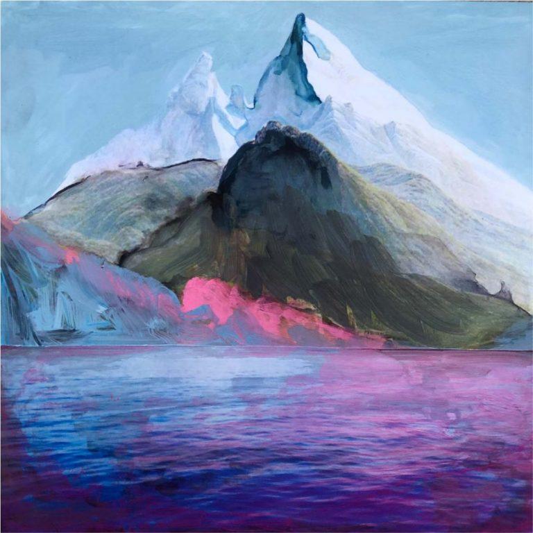 Алпийски кич, 2020, колаж – акварел в/у фото хартия, 20 x 20 см, без рамка