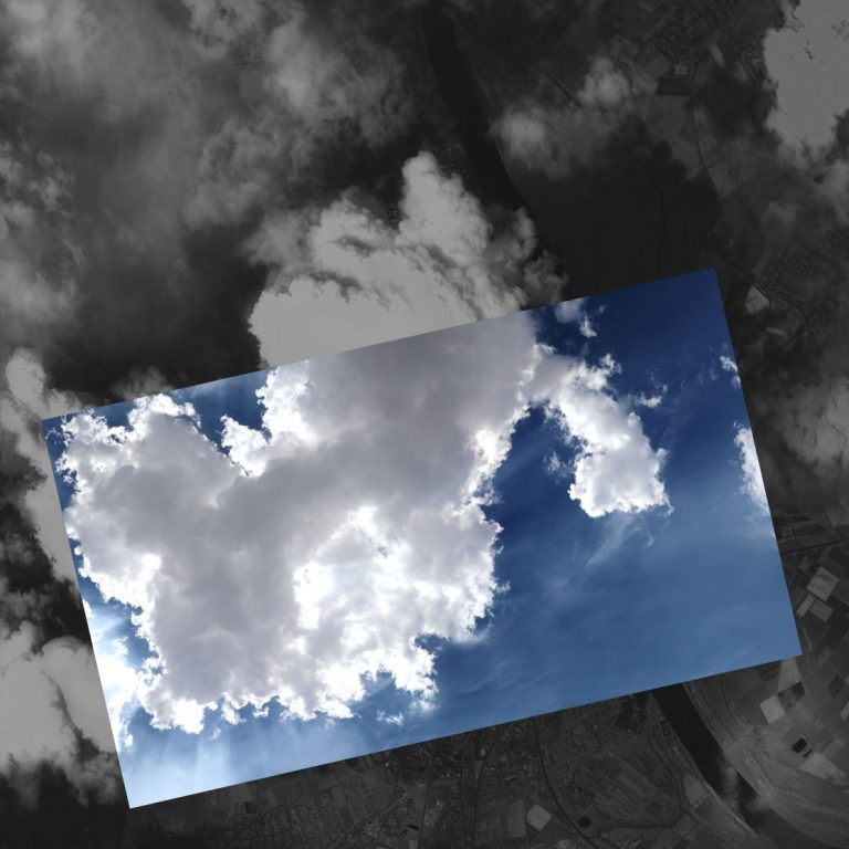 Seeing clouds from both sides, 2018, Photography – Inkjet print on Hahnemühle fine art paper, 41 x 41 cm.