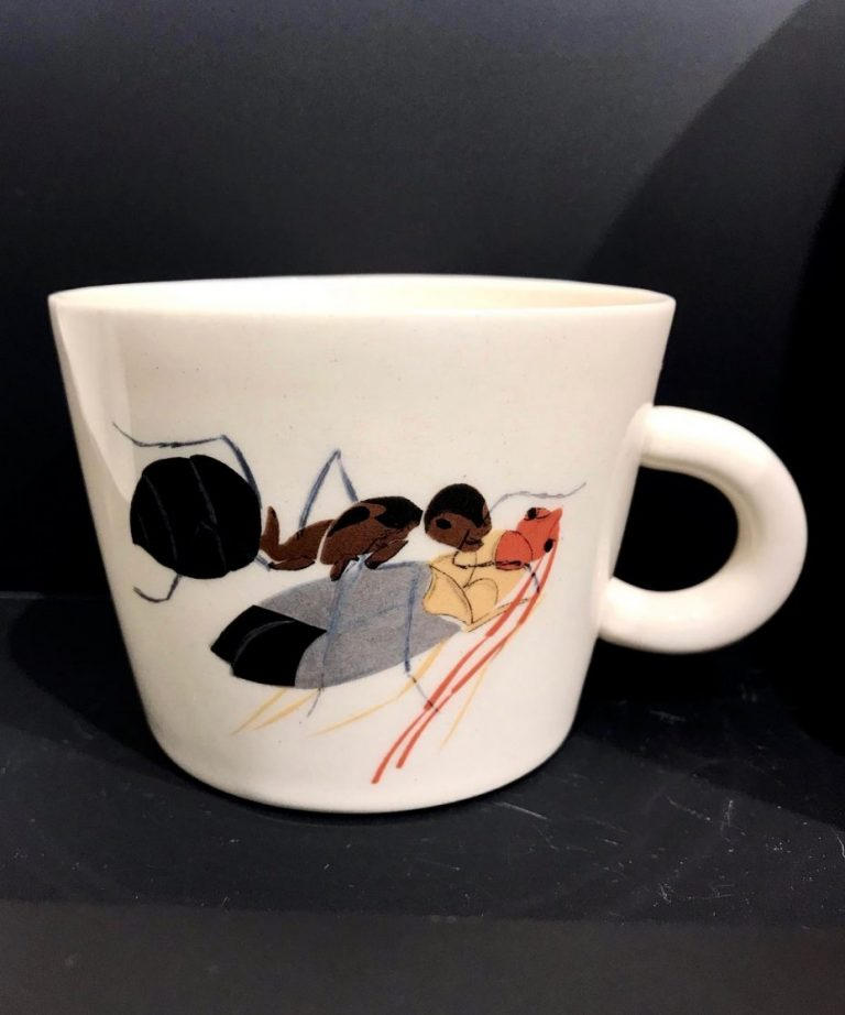 """Cup """"The Ants by Ivan Lazarov"""" – Medium with a bug"""