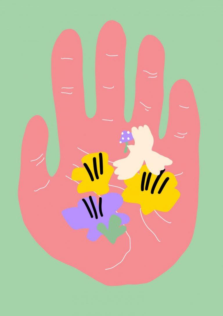Biophilia Hand, 2020, дигитален принт върху Hahnemuhle German Etching 310 gsm. хартия, 40 x 30 см.