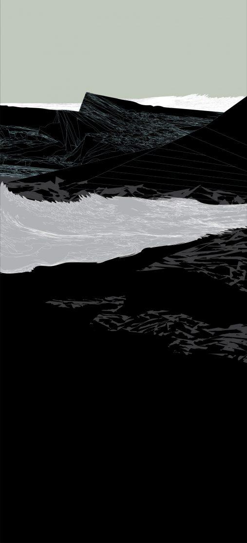Border of the Moment 3, 2020, Archival Pigment print on Fine Art Paper, 110 x 50 cm.