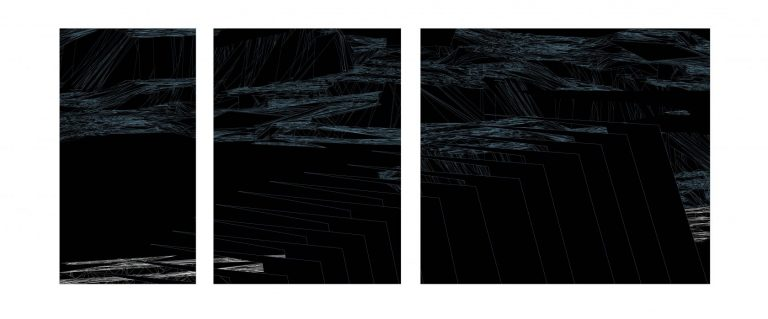 Border of the Moment 4 – triptych, 2020, Archival Pigment print on Fine Art Paper, 75 x 190 cm.