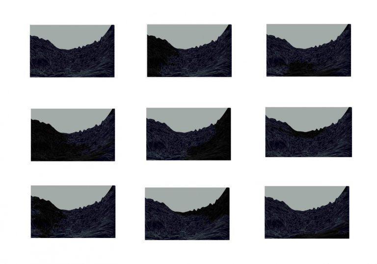 Border of the Moment 6 – 9 parts, 2020, Archival Pigment print on Fine Art Paper, 80 x 110 cm.