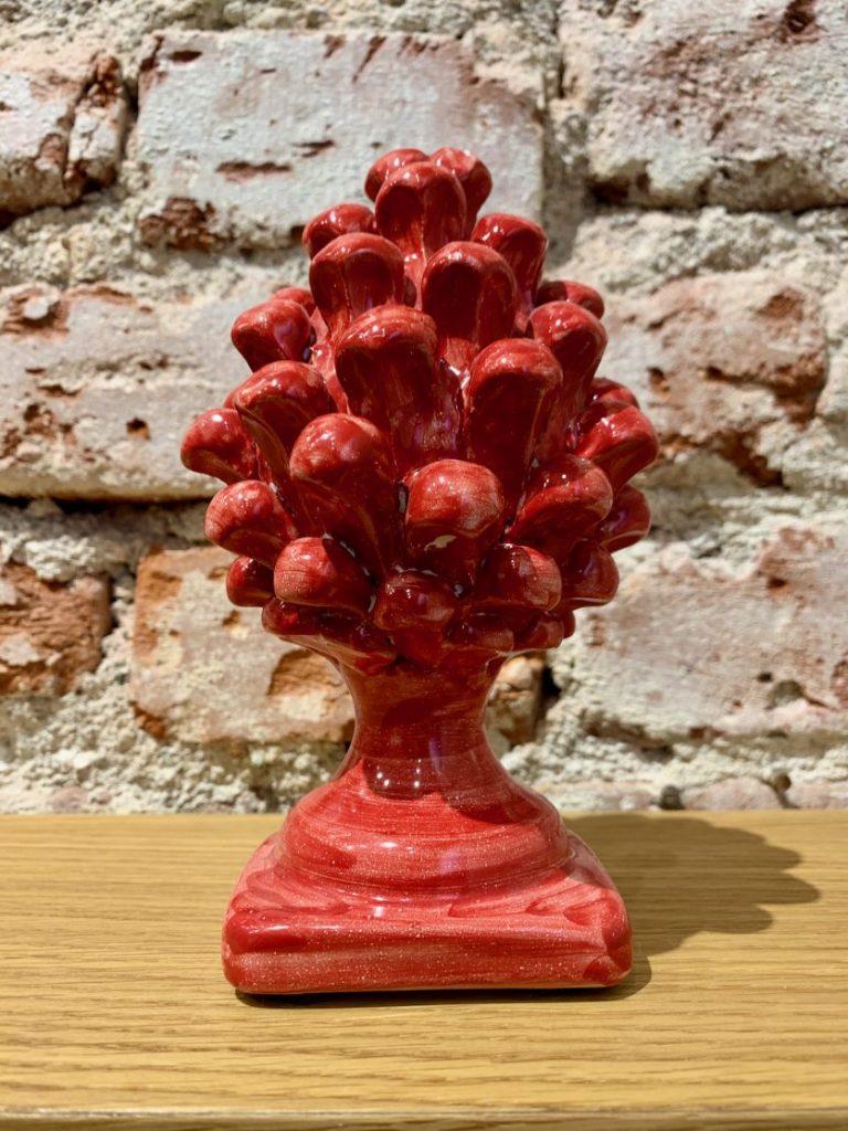 """Традиционна сицилианска керамична шишарка """"Pigna"""" – Малка (17 см)"""