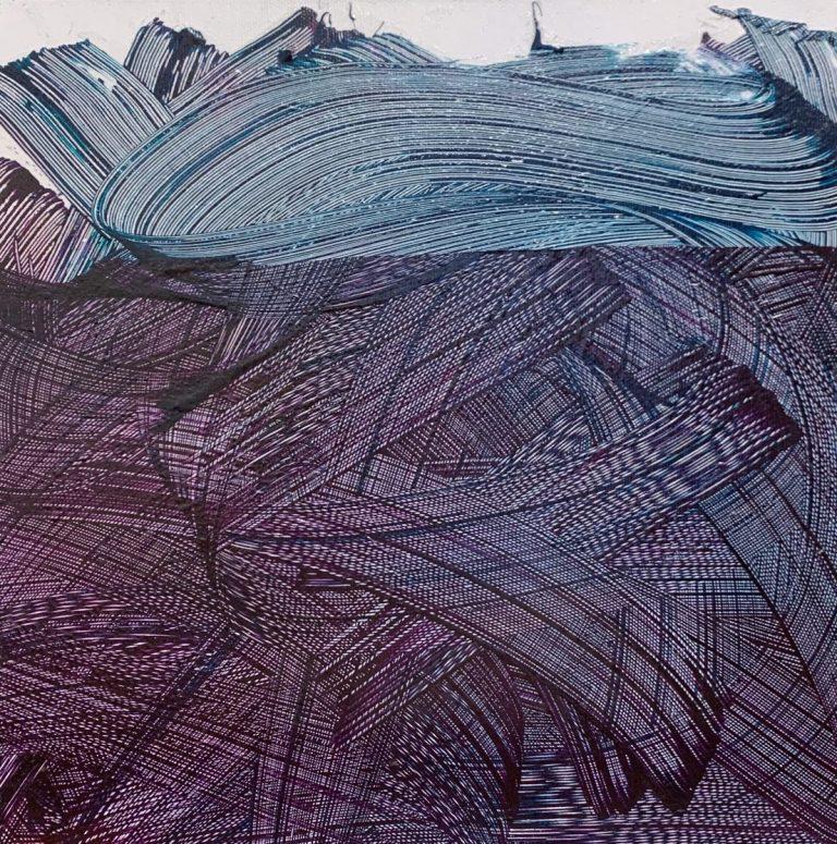 Fileds, 2020, Acrylic on canvas, 30 х 30 cm.