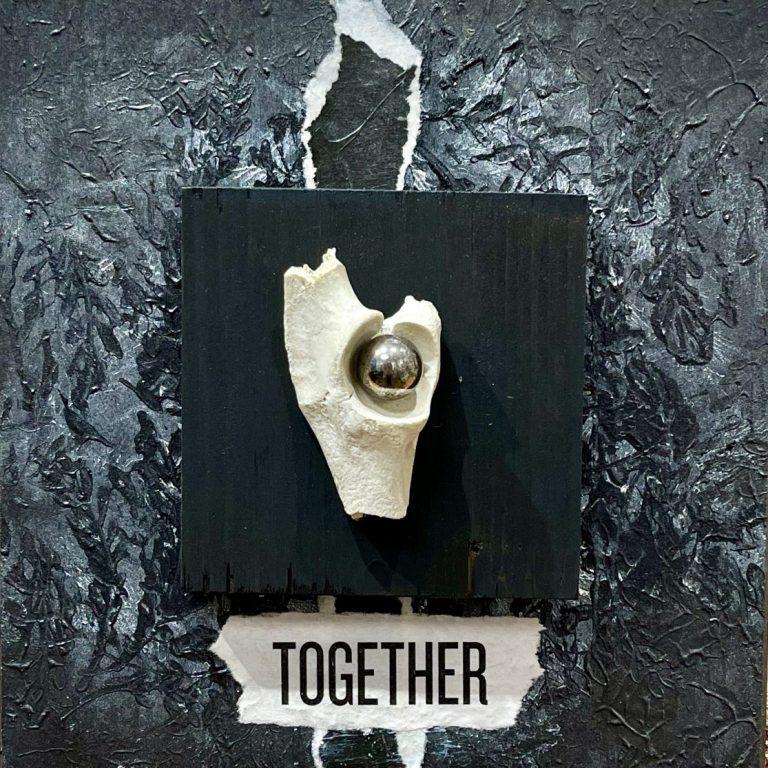 Togetherness, 2020, Mixed media, 20 x 20 cm.