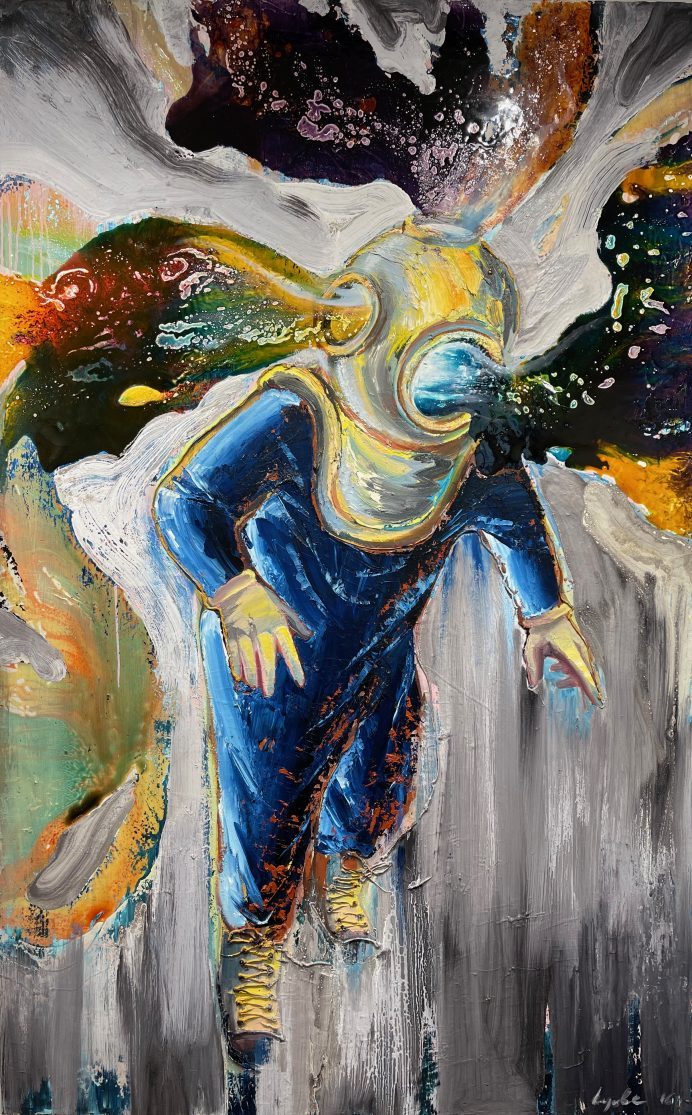 In My Palette, 2014, oil, varnish on canvas, 150 x 95 cm.