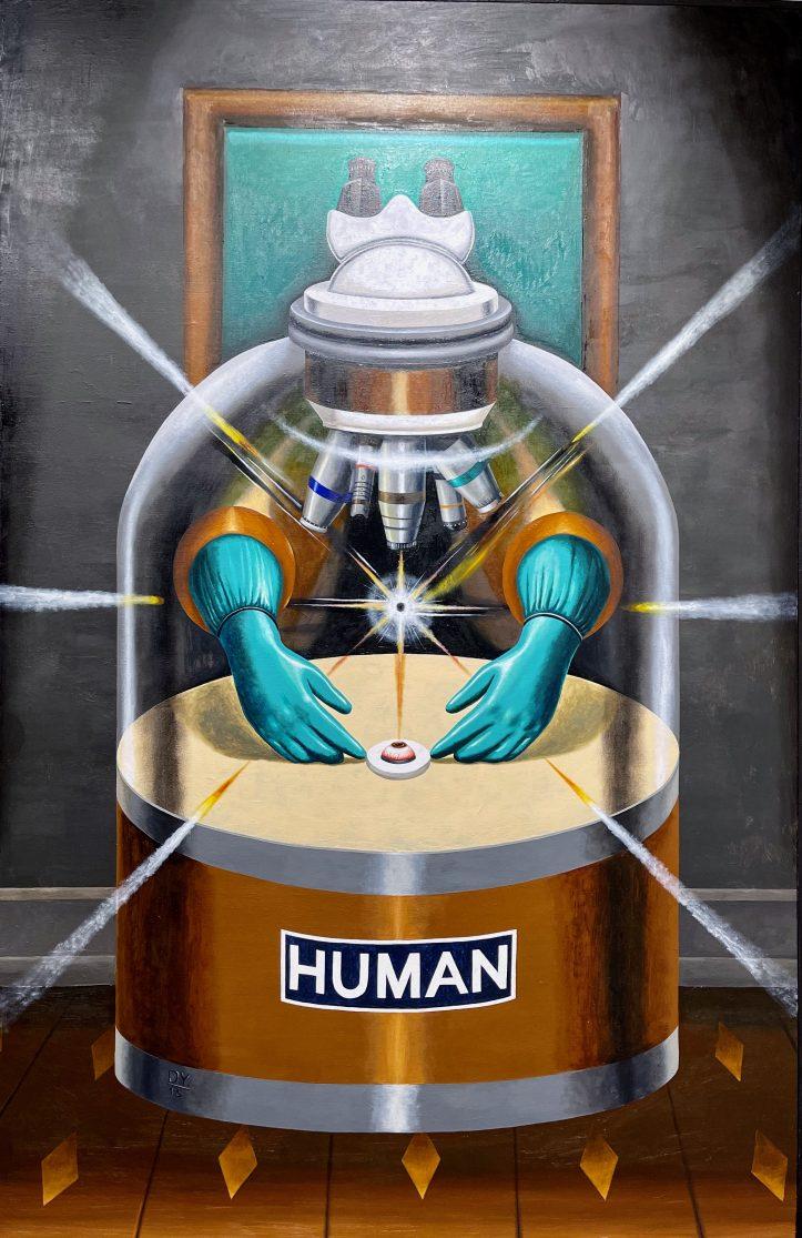 Human, 2015, oil and acrylic on canvas, 133 x 86 cm.