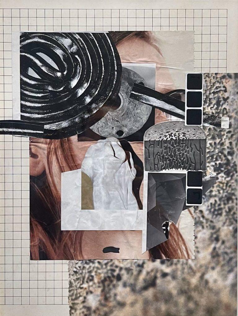 Untitled III, 2021, collage / paper, plastic elements, 40 х 30 cm.