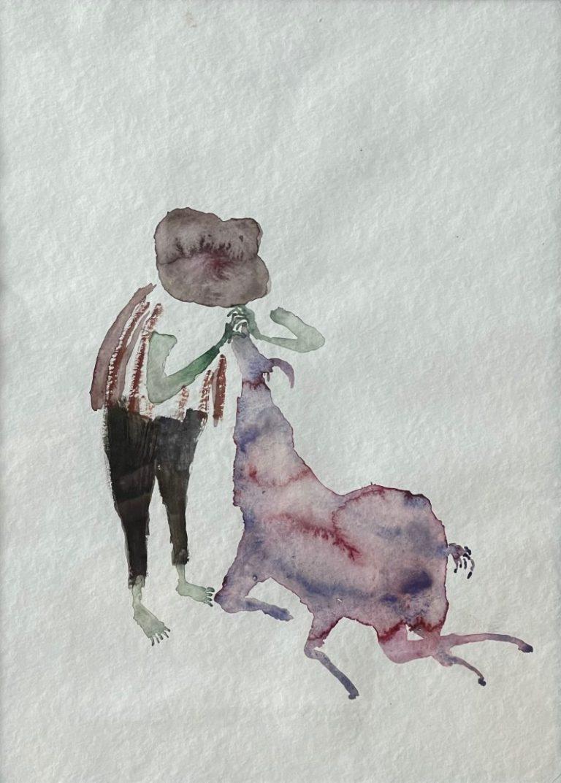 Arpón (Goat kisser), 2011, watercolour on paper, 40 х 30 cm.