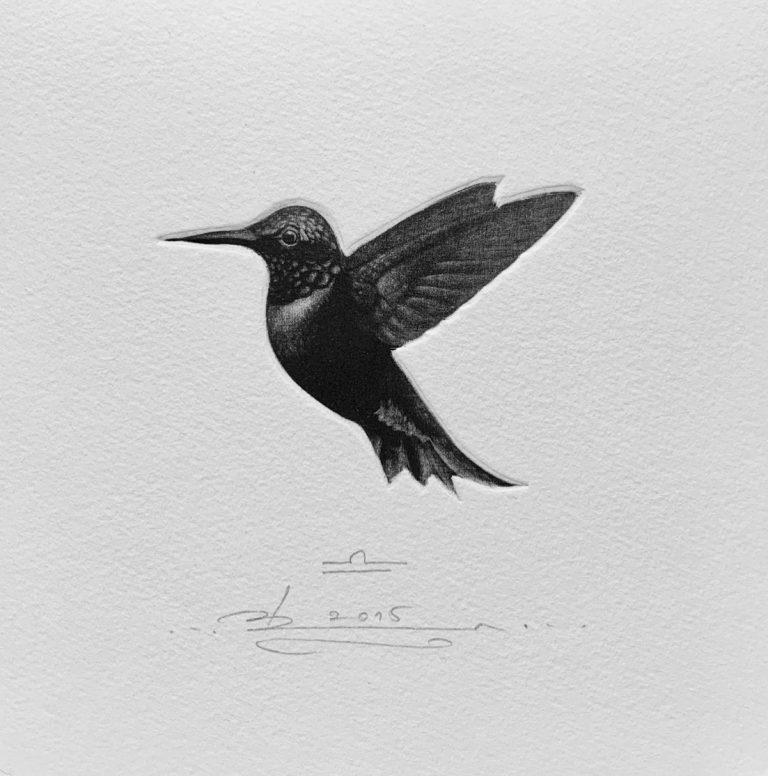 Зодиак 9 – Везни, 2015, mezzotint, 15 x 15 см.