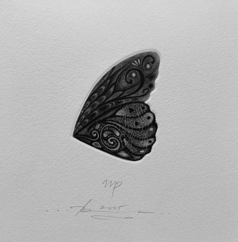 Зодиак 8 – Дева, 2015, mezzotint, 15 x 15 см.