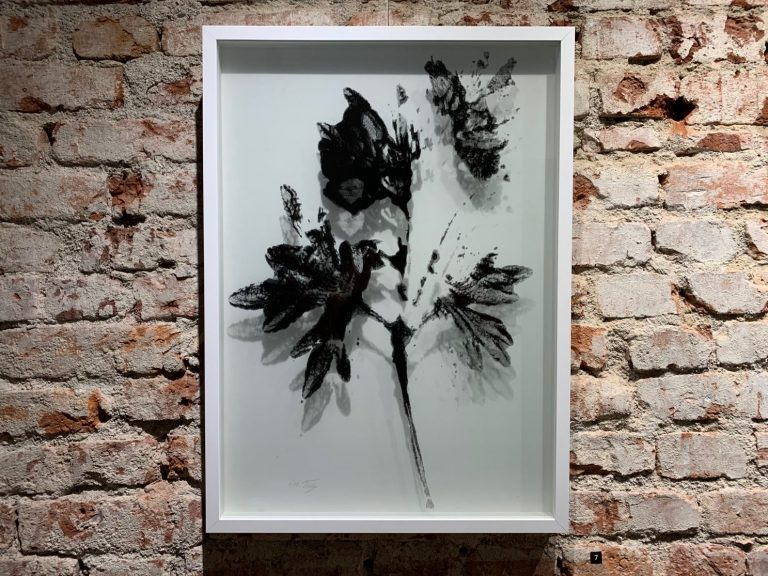 Leshten I, 2020, hand-pulled screen print, combined with exposure film, 70 х 50 cm.
