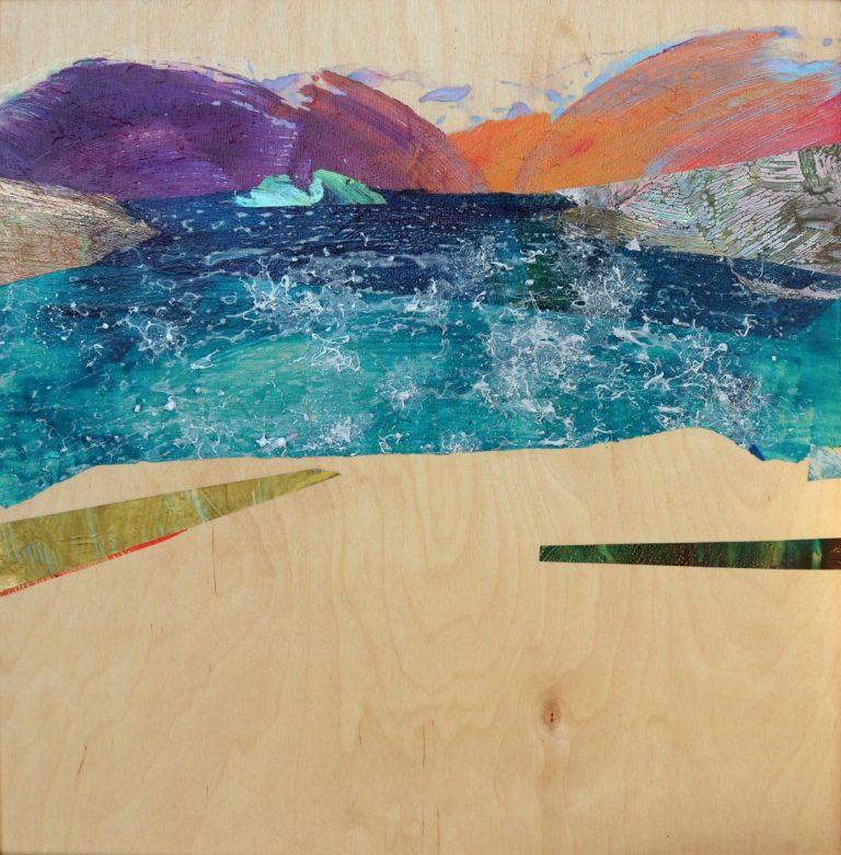 Брегове, 2018, акрил върху дърво, 55 x 57 см, рамкирана