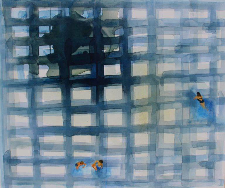 Sea Grid 1, 2014, Acrylic on canvas, 100 х 110 cm.