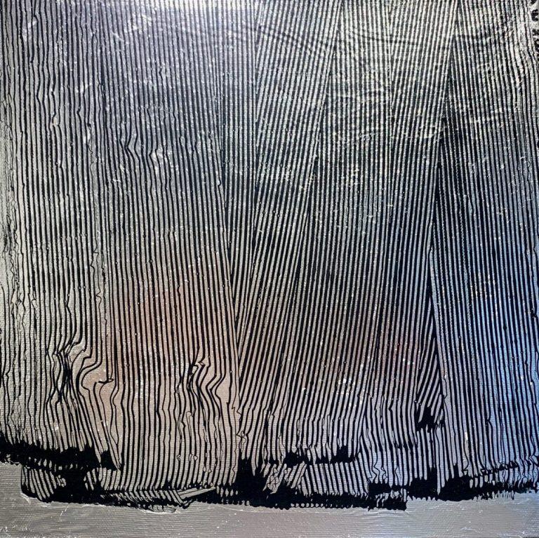 Nature (bar) code, 2020, mixed media on canvas, 30 х 30 cm.