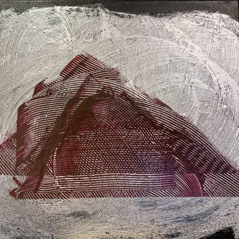 Mountain, 2020, Acrylic on canvas, 30 х 30 cm.