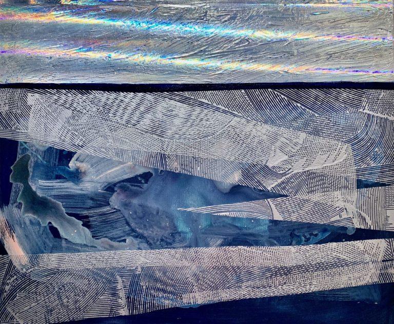 Fantasia, 2020, acrylic and foil on canvas, 50 х 60 cm.