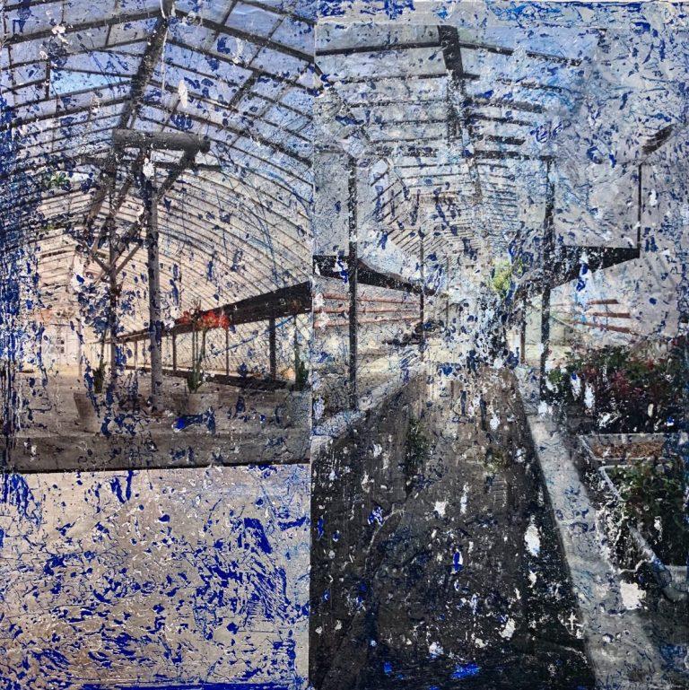 Greenhouse, 2020, mixed media on canvas, 30 х 30 cm.