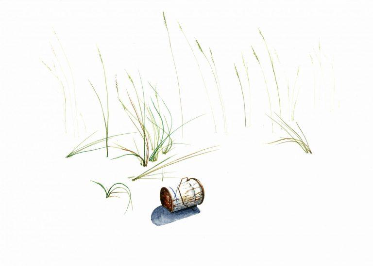 Без име 1 (от серията Nature Takes Back), 2021, рисунка – акварел върху хартия, 30 x 42 см