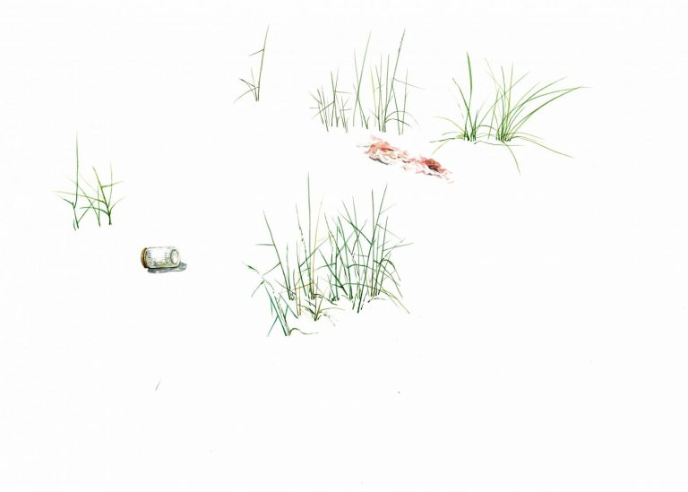 Без име 4 (от серията Nature Takes Back), 2021, рисунка – акварел върху хартия, 30 x 42 см