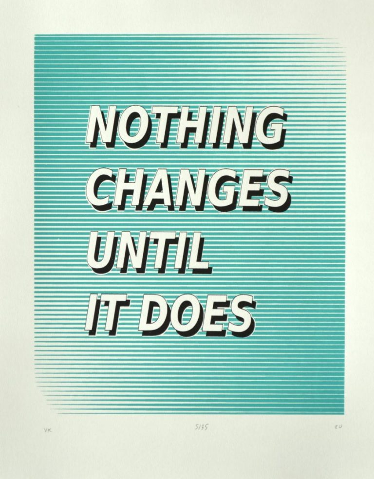 Nothing Changes Until It Does, 2020, handpulled silk screen print on 250 g. Canson paper, 42 х 33 cm.