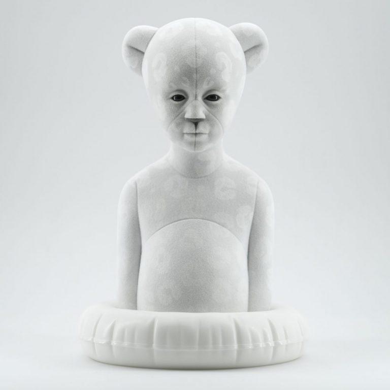 Polar Kid, Snowflake, 2020, Sculpture – Resin, flock, 30.0 × 21.0 × 19.5 cm.