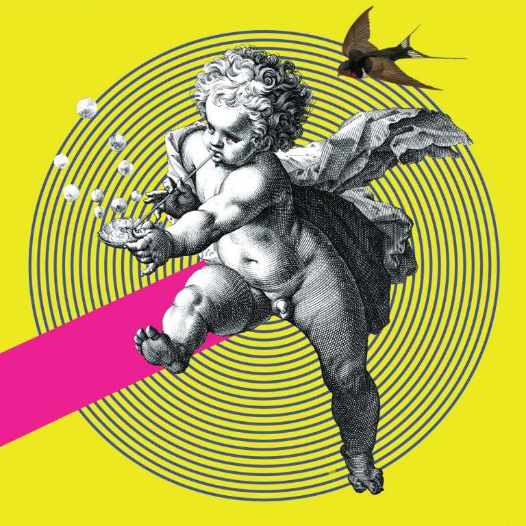 The Secret of the Bird Song, дигитален колаж – принт на картон Fabriano, 70 х 50 см.