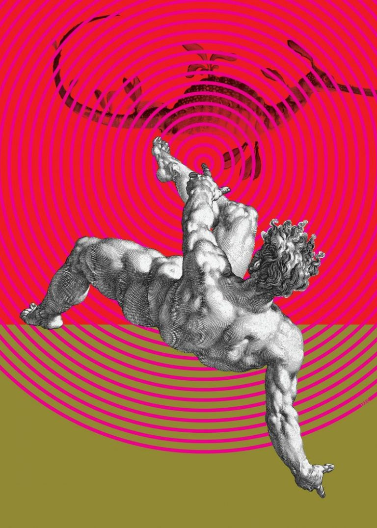 Inversion of control, дигитален колаж – принт на картон Fabriano, 70 х 50 см.