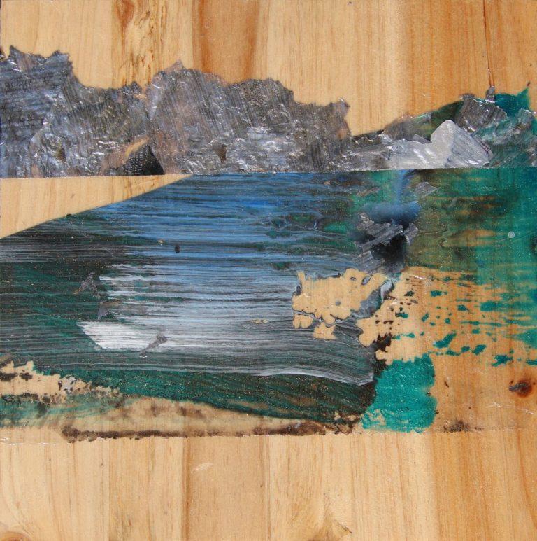 """""""Сребърни хоризонти"""", 2018, 15×15, рамкирана"""