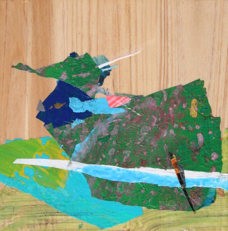 """""""Птицата"""", 2018, 15×15, рамкирана"""