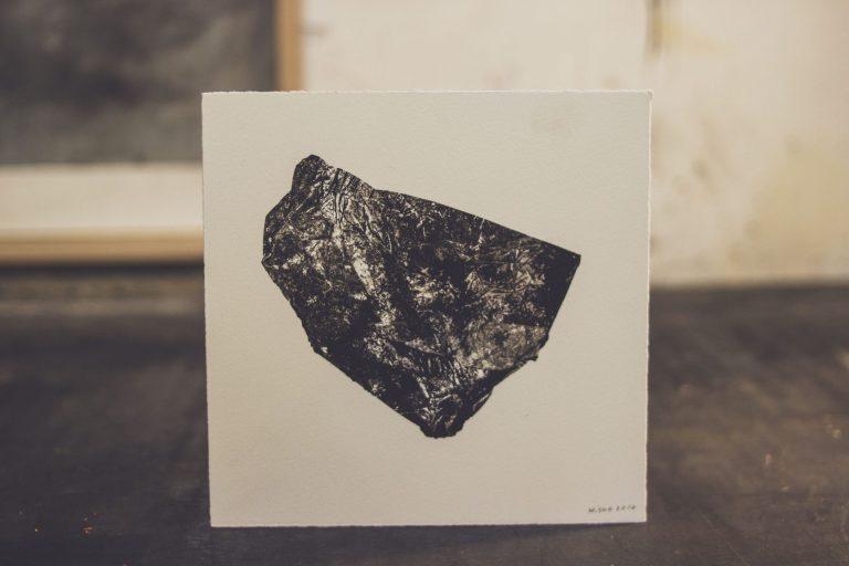 Stones from Different Mountains 10, 2020, монотипия, 20 x 20 см.